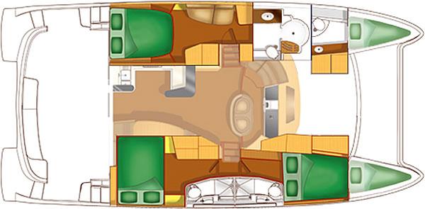 Santorini Sailing Yacht Rentals | Fountaine Pajot Cumberland 46' – Emily power Catamaran