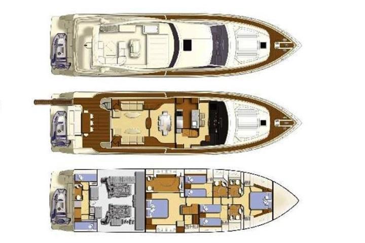 Santorini Sailing Yacht Rentals | LUXURY YACHT FERRETTI 731- M/Y ALEXANDROS