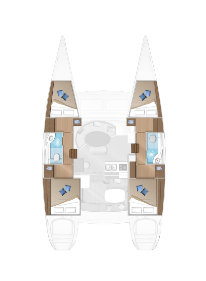 Santorini Sailing Yacht Rentals | Lagoon 380 – Kallisti