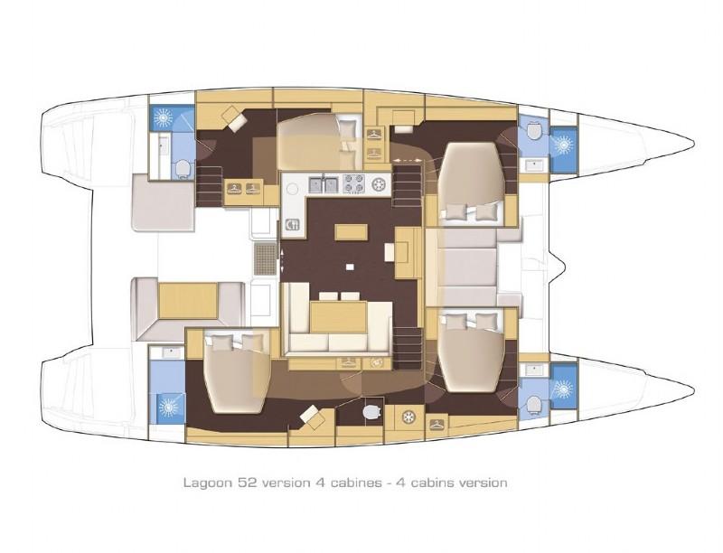 Santorini Sailing Yacht Rentals | Lagoon 520 – Amorgos