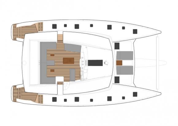 Santorini Sailing Yacht Rentals | MILOS – FOUNTAINE PAJOT 58'