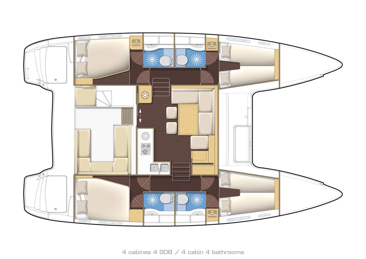 Santorini Sailing Yacht Rentals | Lagoon 400 – Sunset Santorini